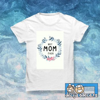 Best mom ever flower frame