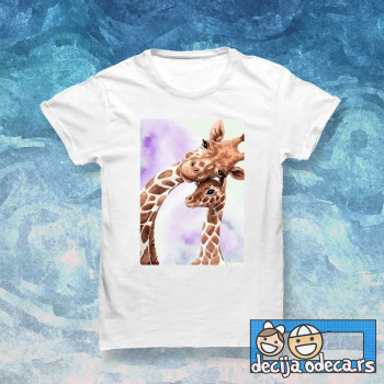 Cute giraffe mom and baby-slike
